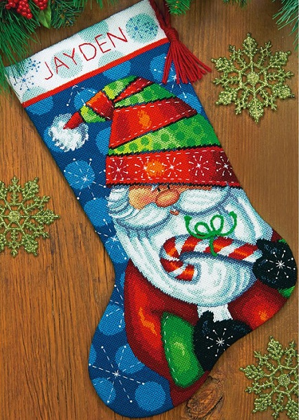 click here to view larger image of Sweet Santa Stocking (needlepoint)