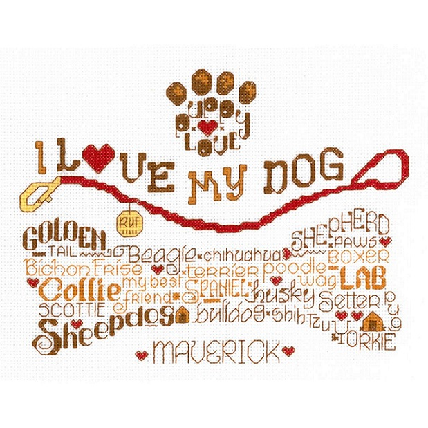click here to view larger image of Lets Wag More - Kit (counted cross stitch kit)