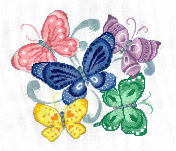 click here to view larger image of Spring Butterflies - Kit (counted cross stitch kit)