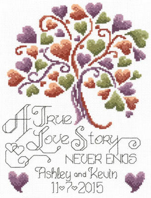 click here to view larger image of Love Story Wedding - Kit (counted cross stitch kit)