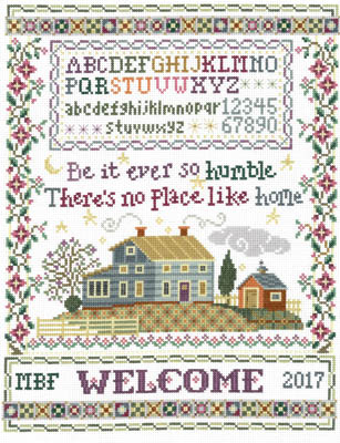 click here to view larger image of Humble Home Sampler - Kit (counted cross stitch kit)