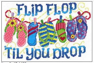 click here to view larger image of Flip Flop Til You Drop - Kit (counted cross stitch kit)