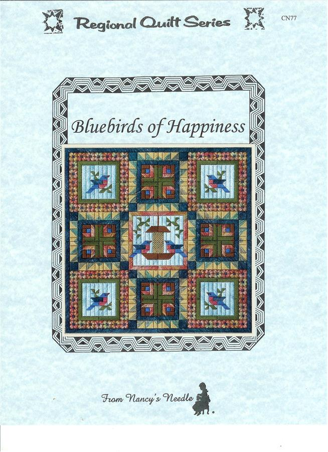 click here to view larger image of Bluebirds Of Happiness (counted canvas chart)