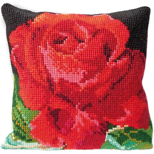 click here to view larger image of Rose Cushion Tapestry (needlepoint)