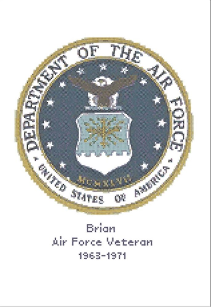 click here to view larger image of U.S. Air Force Emblem - Kit (counted cross stitch kit)