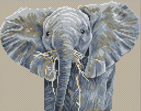 click here to view larger image of Big is Beautiful (counted cross stitch kit)