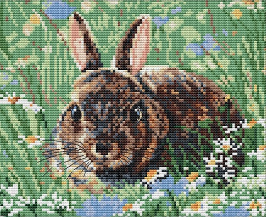 click here to view larger image of Woodland Bunny (counted cross stitch kit)