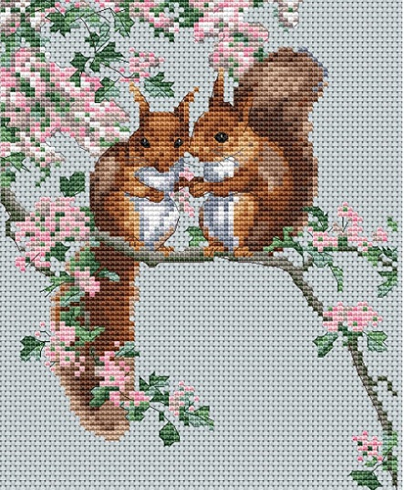 click here to view larger image of Squirrels Secrets (counted cross stitch kit)