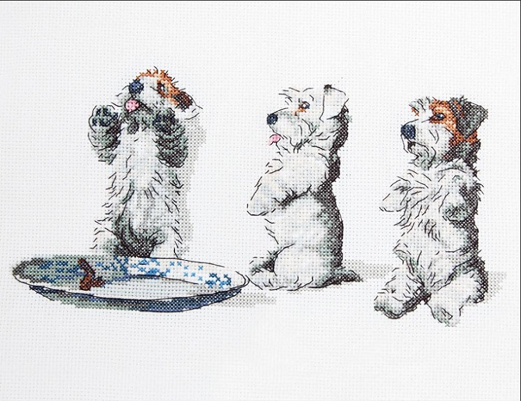click here to view larger image of Scrap Tatty & Pip (counted cross stitch kit)