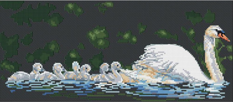 click here to view larger image of Swan Lake (counted cross stitch kit)