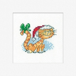 click here to view larger image of Christmas Tigger Christmas Card 3pack (counted cross stitch kit)
