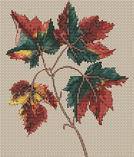 click here to view larger image of Acer Rubrum (Red Maple) (counted cross stitch kit)