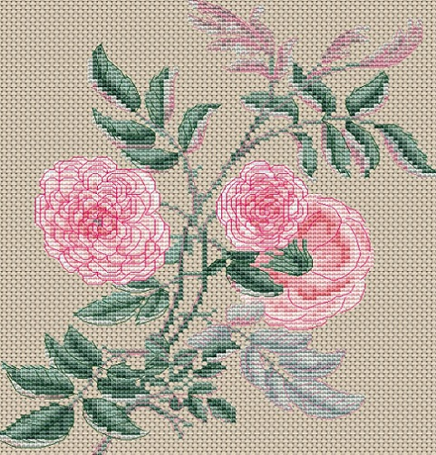 click here to view larger image of Rosa Gracilis (counted cross stitch kit)