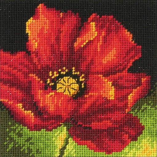 click here to view larger image of Red Poppy  (needlepoint)