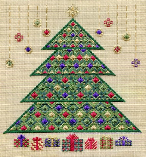 click here to view larger image of Christmas Tree 2011 (Includes Beads) (counted canvas chart)