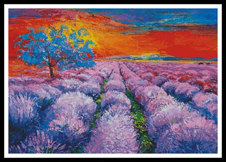 click here to view larger image of Lavender Field At Sunset (chart)