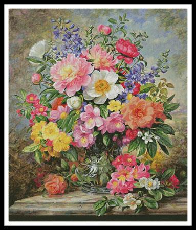 click here to view larger image of June Flowers In Radiance (Large)  (Albert Williams) (chart)