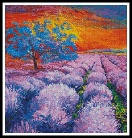 click here to view larger image of Lavender Fields At Sunset (Crop) (chart)