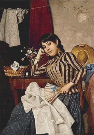 click here to view larger image of Venetian Seamstress, A (chart)