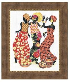 click here to view larger image of Africans (counted cross stitch kit)