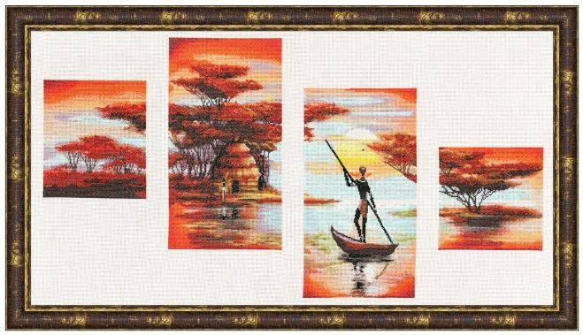 click here to view larger image of Evening Africa (counted cross stitch kit)