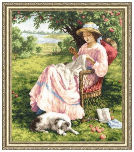 click here to view larger image of Apple-Tree Garden (counted cross stitch kit)