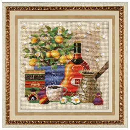 click here to view larger image of Coffee Aroma (counted cross stitch kit)