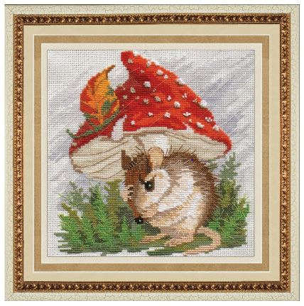 click here to view larger image of Mushroom Rain (counted cross stitch kit)