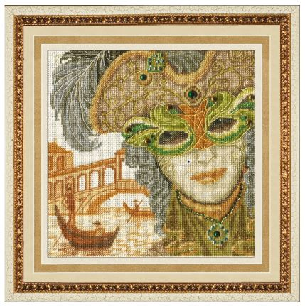 click here to view larger image of Venetian Mask (counted cross stitch kit)