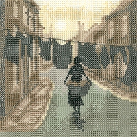 click here to view larger image of Wash Day - Silhouettes (Aida) (counted cross stitch kit)