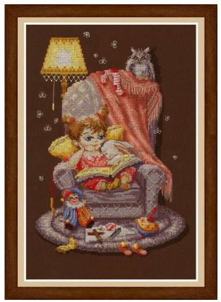 click here to view larger image of Fable For The Night (counted cross stitch kit)