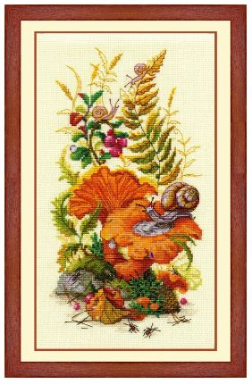 click here to view larger image of On The Forest Edge (counted cross stitch kit)