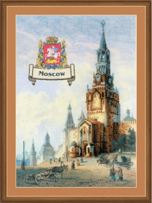 click here to view larger image of Cities of Russia - Moscow (stamped cross stitch kit)