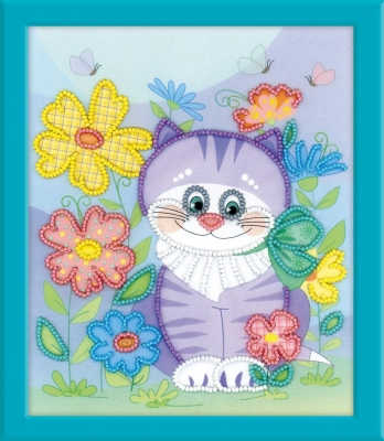 click here to view larger image of Kitten (stamped cross stitch kit)