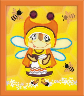 click here to view larger image of Granny Bee (stamped cross stitch kit)