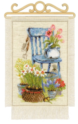 click here to view larger image of Cottage Garden - Spring (counted cross stitch kit)