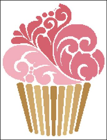 click here to view larger image of Cupcake Silhouette (chart)