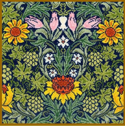click here to view larger image of Sunflowers - William Morris (counted cross stitch kit)