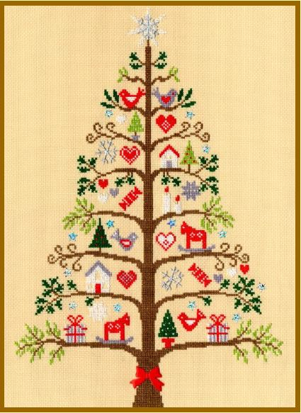 click here to view larger image of Scandi Tree (counted cross stitch kit)