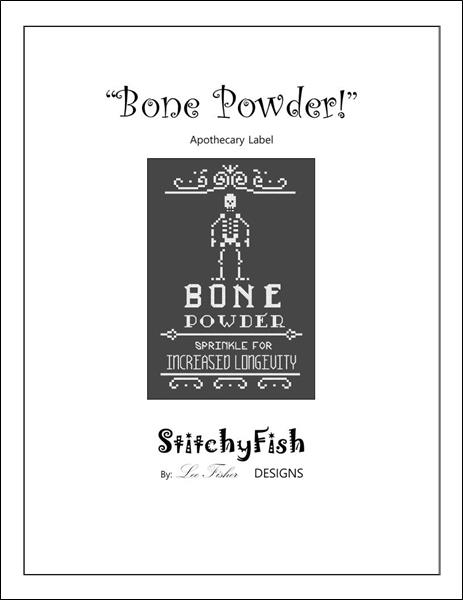 click here to view larger image of Bone Powder - Apothecary Label (chart)