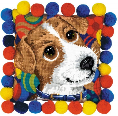 click here to view larger image of Puppy Cushion (counted cross stitch kit)