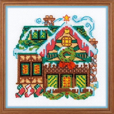 click here to view larger image of Cabin With A Bell (counted cross stitch kit)