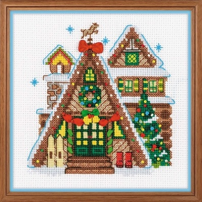 click here to view larger image of Winter Cabin (counted cross stitch kit)