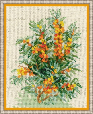click here to view larger image of Sea Buckthorn (counted cross stitch kit)