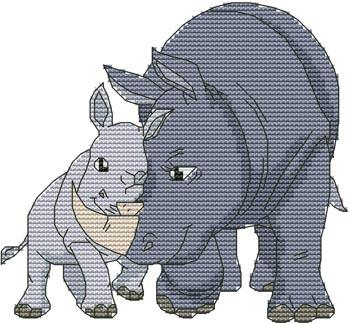 click here to view larger image of Momma N Me Rhino (chart)