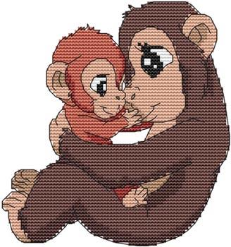 click here to view larger image of Momma N Me Monkey (chart)