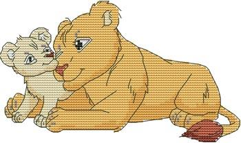 click here to view larger image of Momma N Me Lion (chart)
