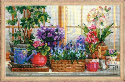 click here to view larger image of Windowsill With Flowers (chart)
