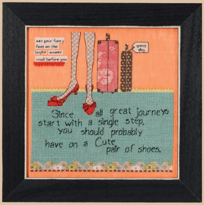 click here to view larger image of Journeys - Curly Girl Everyday Series (counted cross stitch kit)