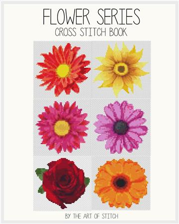 click here to view larger image of Flower Series (6 Designs) (book)